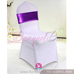 purple Metallic stretch sash,spandex band,lycra sash