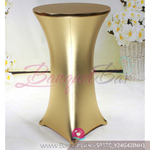 golden Metallic stretch cocktail table cover
