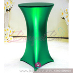 green Metallic stretch cocktail table cover