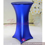 royal blue Metallic stretch cocktail table cover