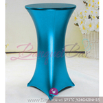 blue Metallic stretch cocktail table cover