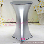 Silver Metallic stretch cocktail table cover