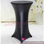 black Metallic stretch cocktail table cover