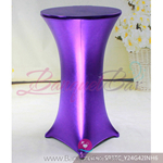 purple Metallic stretch cocktail table cover