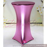 pink Metallic stretch cocktail table cover