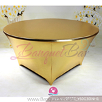golden Metallic stretch Table Cover,Spandex lycra Table Covers
