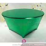 green Metallic stretch Table Cover,Spandex lycra Table Covers