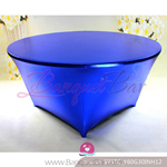 royal blue Metallic stretch Table Cover,Spandex lycra Table Cove