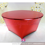 red Metallic stretch Table Cover,Spandex lycra Table Covers