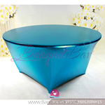 blue Metallic stretch Table Cover,Spandex lycra Table Covers