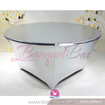 Silver Metallic stretch Table Cover,Spandex lycra Table Covers