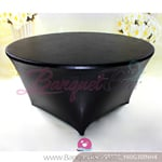 black Metallic stretch Table Cover,Spandex lycra Table Covers
