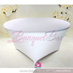 white Metallic stretch Table Cover,Spandex lycra Table Covers