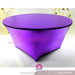 purple Metallic stretch Table Cover,Spandex lycra Table Covers