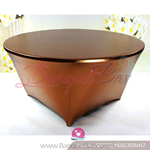 bronze Metallic copper stretch Table Cover,Spandex lycra Table C