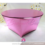 pink Metallic stretch Table Cover,Spandex lycra Table Covers