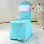 tiffany-blue Stretch chair covers,Spandex chair cover,Lycra Cove
