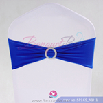 Dark Blue Stretch chair sash,Lycra chair sash Banquet band