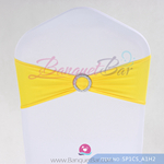 Yellow Stretch chair sash, Yellow Spandex band,Lycra chair sash