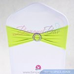 lime-green Stretch chair sash,Spandex band,Lycra chair sash