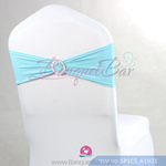 tiffany-blue Stretch chair sash,Spandex band,Lycra chair sash Co