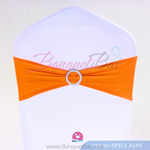 orange Stretch chair sash, Wedding Spandex band,Lycra chair sash