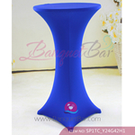 Dark Blue Stretch cocktail table covers,Lycra Banquet cocktail t
