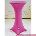 fuchsin Stretch cocktail table covers,Spandex cocktail table cov