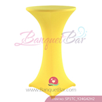Yellow Stretch cocktail table covers, Yellow Spandex cocktail ta