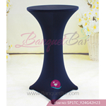 navy-blue Stretch cocktail table covers,Spandex cocktail table c