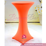 orange Stretch cocktail table covers, spandex Spandex cocktail t