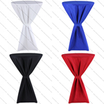 Polyester Cocktail Table Cover ,Polyester Highboy table covers