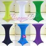 Stretch cocktail table covers,Lycra spandex highboy table cover