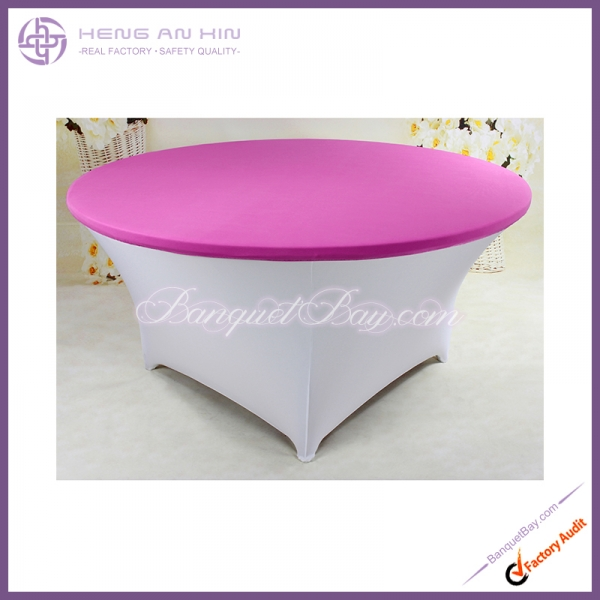 fuchsin Stretch table topper,Spandex table top,Lycra