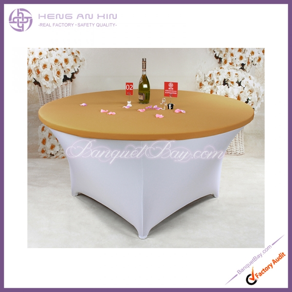 dark-golden Stretch table topper,Spandex table top,Lycra Cover