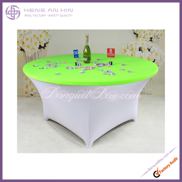 light-green Stretch table topper,Spandex table top,Lycra Cover