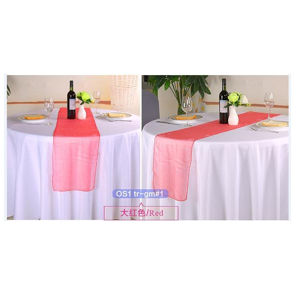 Red crystal organza Table-Runner,Table Flags wedding banquet eve