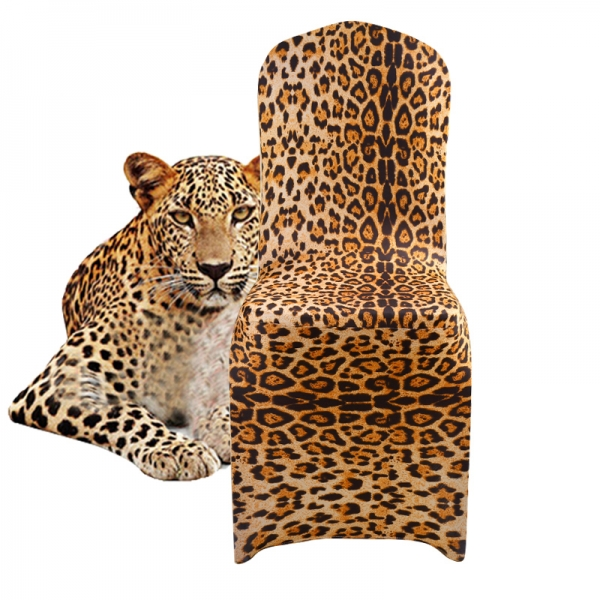 leopard stretch chair cover
