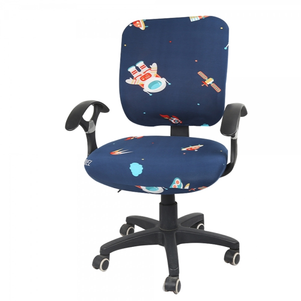 cartoon computer office rotating chair seat cover removeable