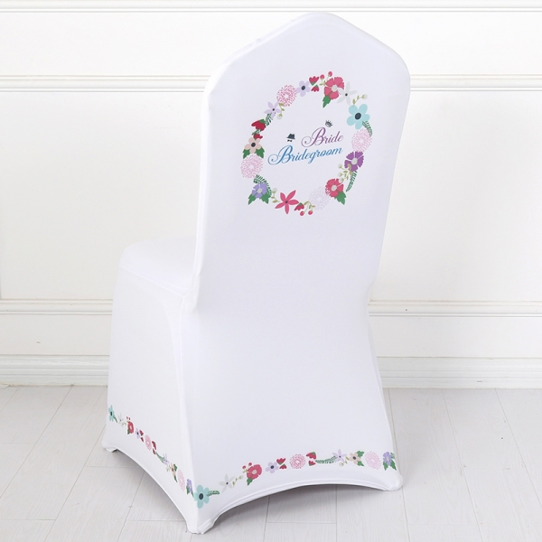 Spandex Stretch White Wedding Bride Chair Cover