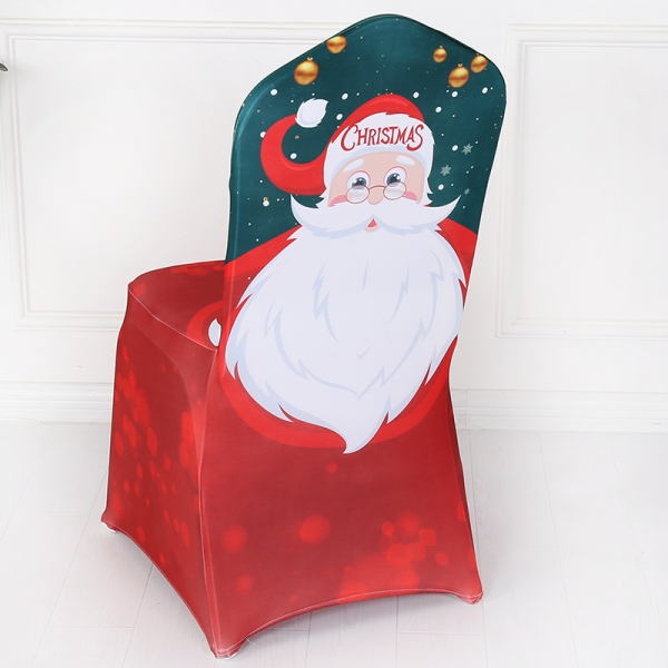 Santa Claus Father Christmas Spandex Banquet Chair Cover
