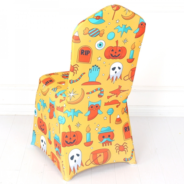 Halloween Decoratin Spandex Chair Cover