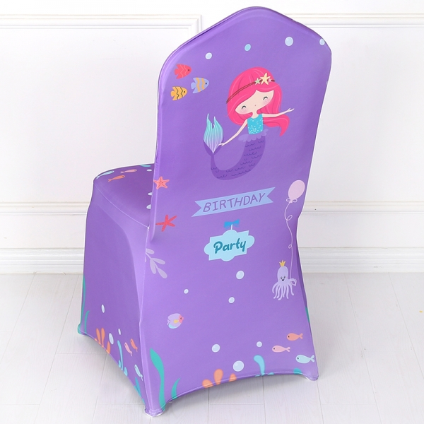 Haappy Birthday Print Spandex Chair Cover