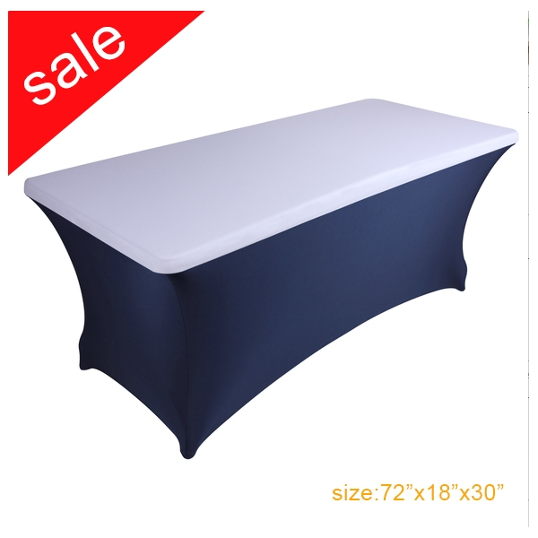 big sale spandex stretch 6ft white rectangle table top cover/cap