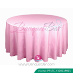 pink Polyester Tablecloth for wedding,Banquet Polyester Table Co