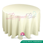 ivory Polyester Tablecloth for wedding,Banquet Polyester Table C