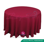 burgundy Polyester Tablecloth for wedding,Banquet Polyester Tabl
