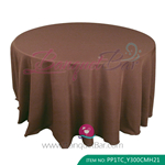 dark brown Polyester Tablecloth for wedding,Banquet Polyester Ta