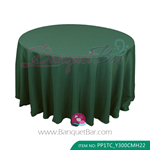 hunter green Polyester Tablecloth for wedding,Banquet Polyester