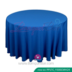 royal blue Polyester Tablecloth for wedding,Banquet Polyester Ta